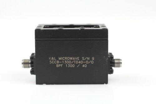 test measurement inspection k l microwave 5ccb 1300 td40 0 0 coaxial bandpass filter bpf 1300 40 signal sources conditioning