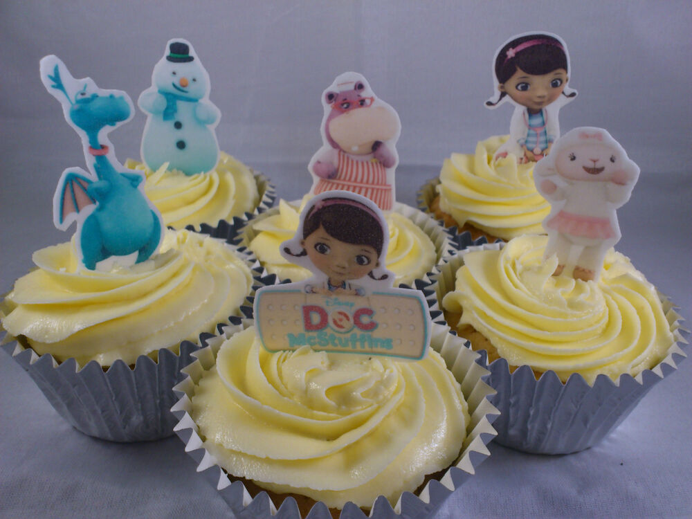 24 Doc McStuffins **WAFER** Edible Cupcake/Fairy Cake
