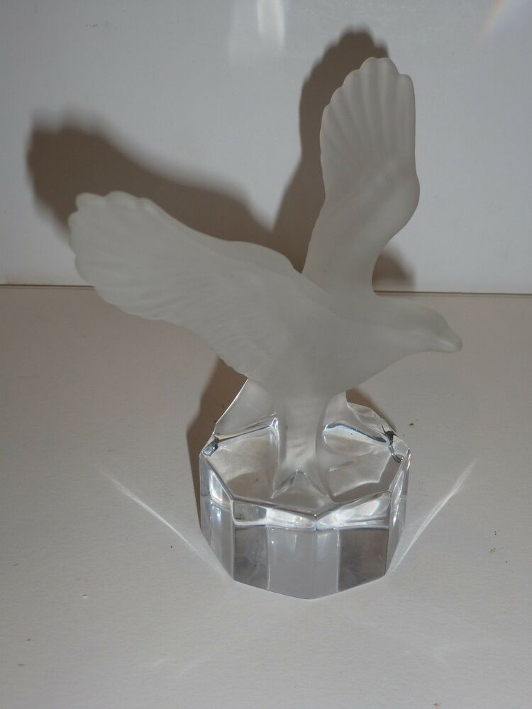Goebel Frosted Crystal Eagle Figurine With Clear Crystal Base EBay