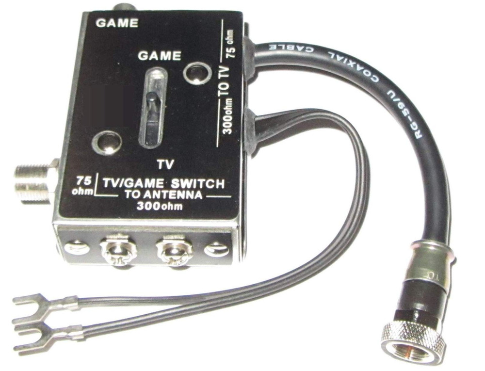 New Switch Box Adapter For Atari 2600 Modern Hookups Video