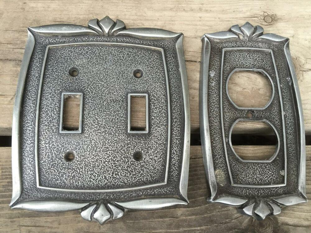 MPair Vintage Donner 1970's Metal Double Light Switch