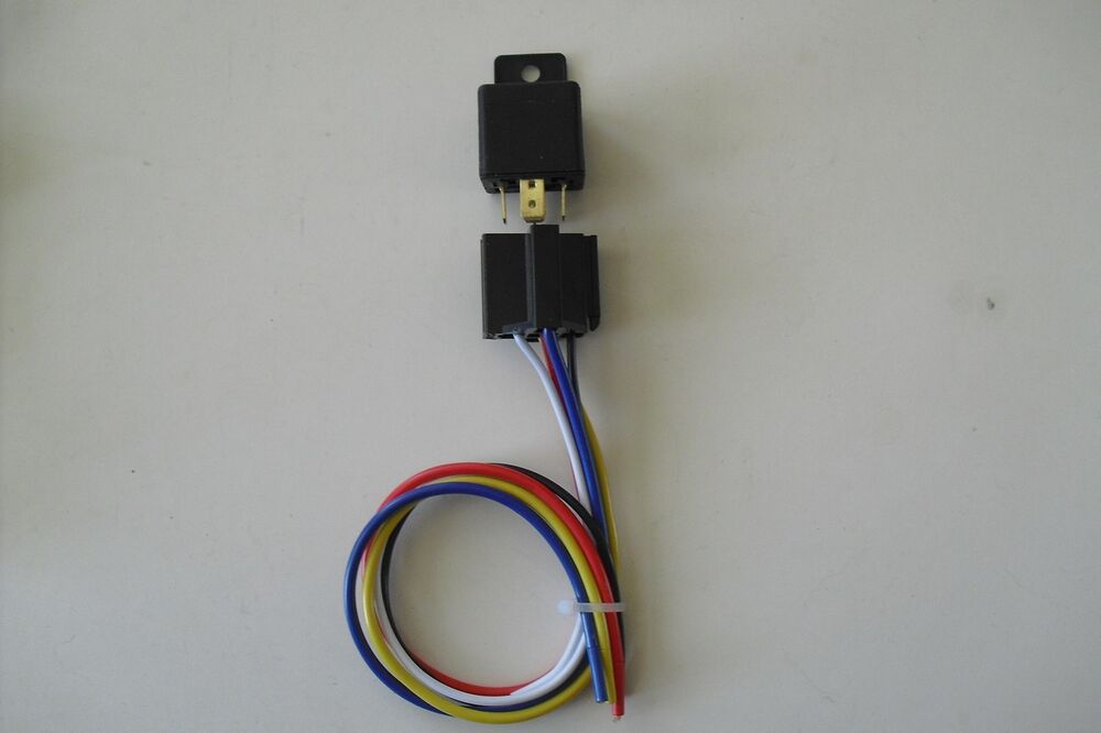 SINGLE 50AMP 12VOLT 5PIN RELAY KIT FOR ELECTRIC FAN FOG