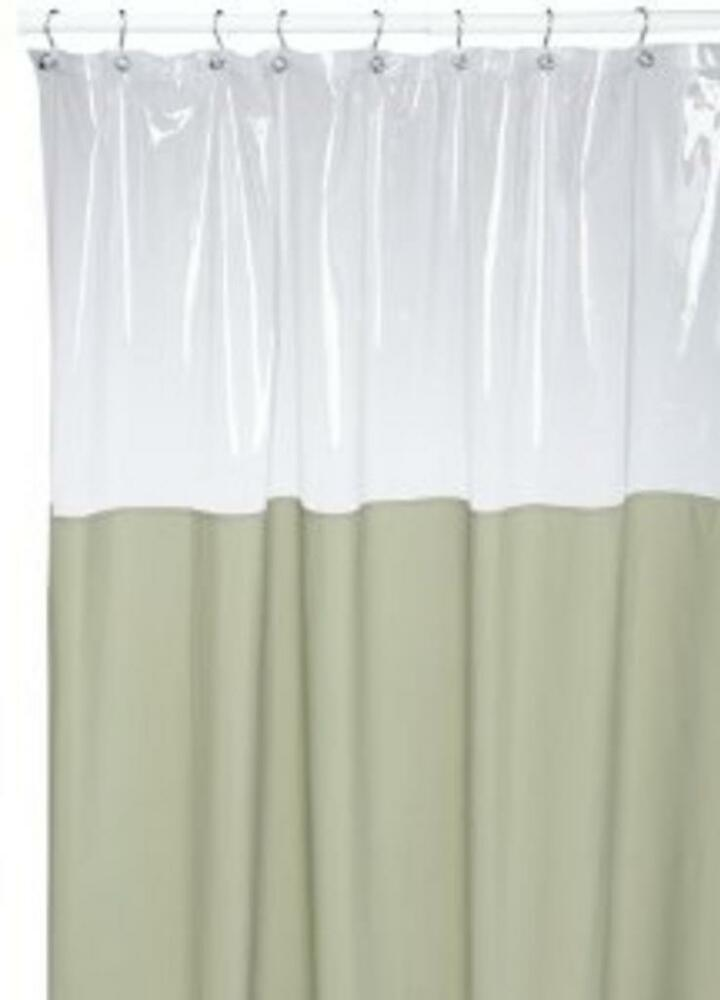 Window Shower Curtain Or Liner Wa Unique Clear Top That Allows Light In NEW EBay