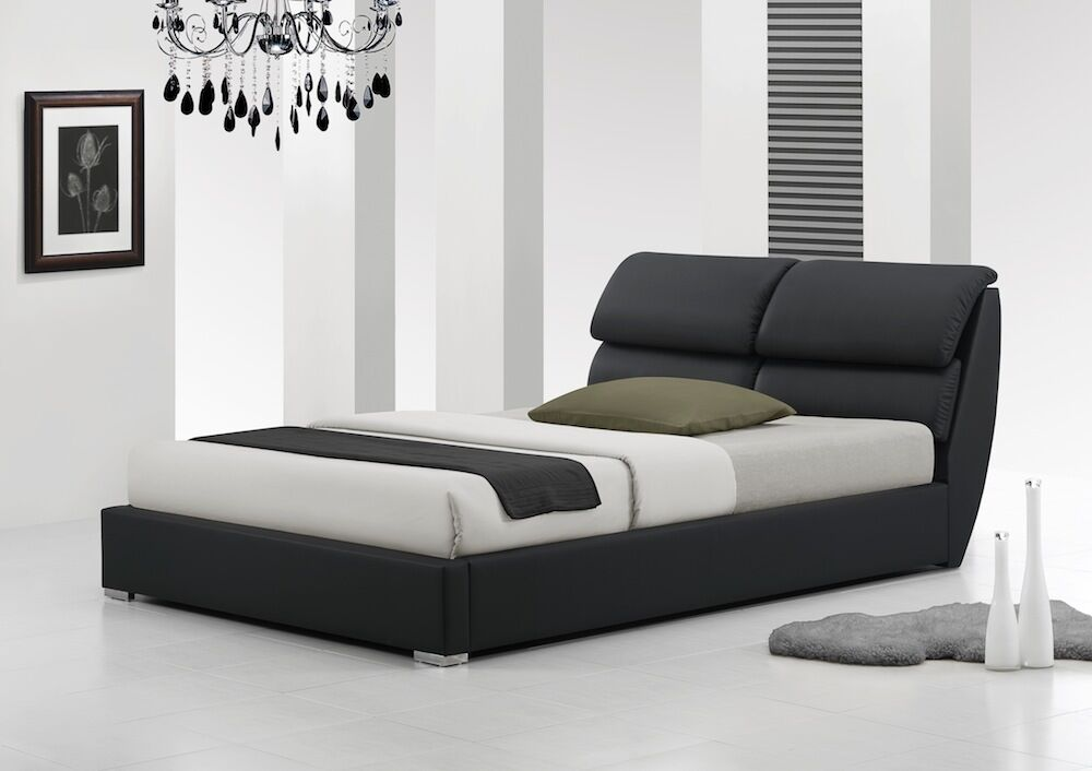 LIBRETTO 4FT6 DOUBLE Amp 5FT KING SIZE MODERN LEATHER BED