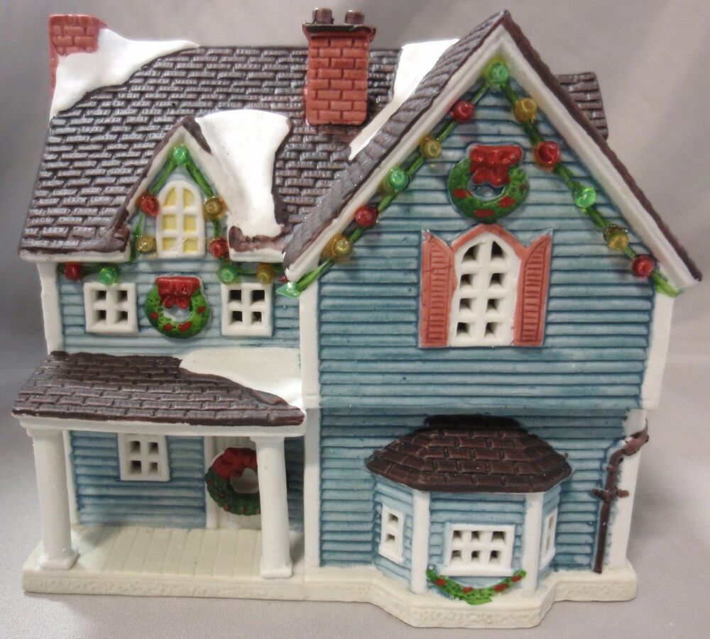 LEMAX DICKENSVALE PORCELAIN LIGHTED HOUSE CHRISTMAS