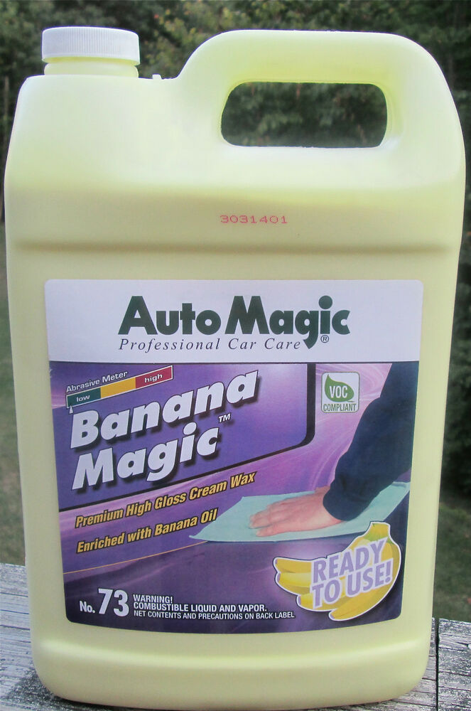 CREAM WAX BANANA MAGIC By Auto Magic For DEEP LONG LASTING HIGH SHINE 1 GAL EBay