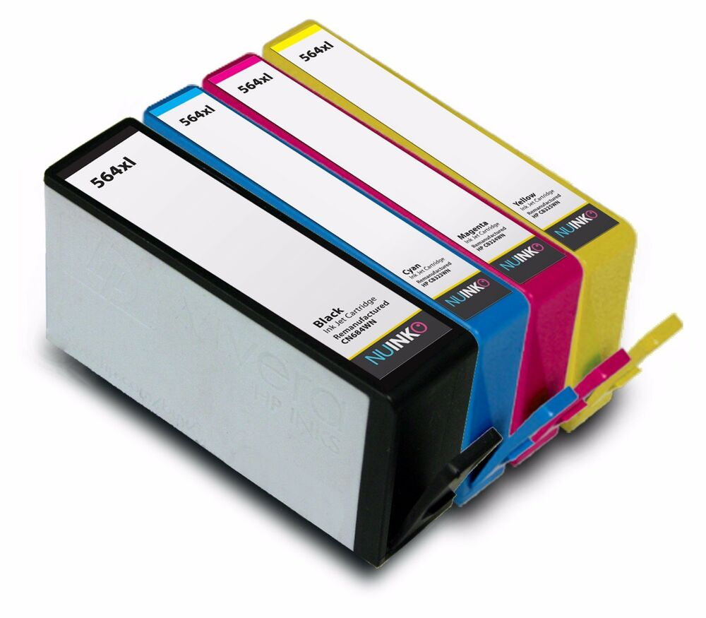4pk Replacement Hp 564xl Ink Cartridge For Hp Photosmart