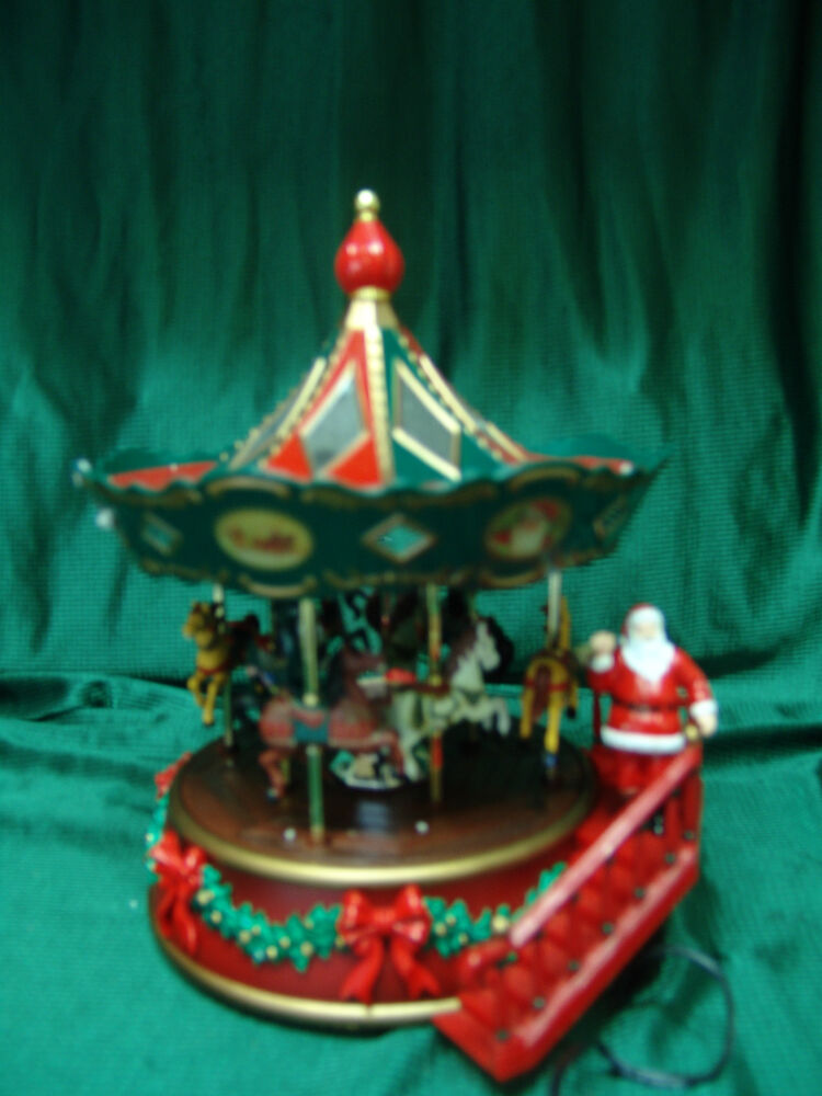 CHRISTMAS HOLIDAY GOOD TIMES GO ROUND HORSE CAROUSEL
