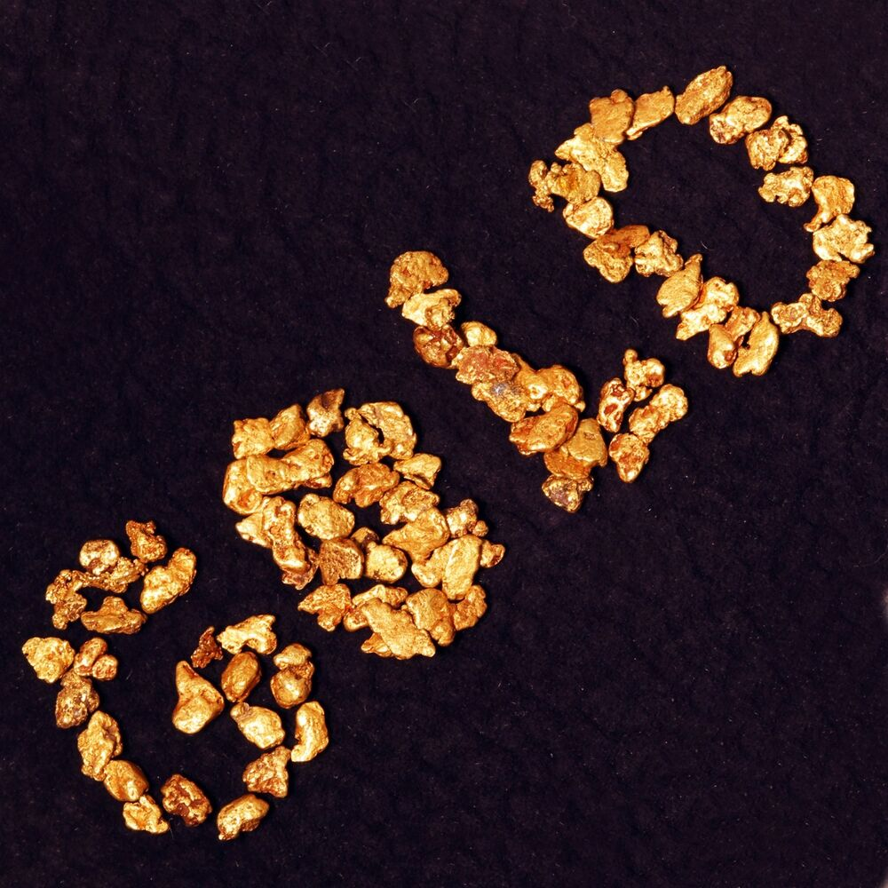 Ten 10 Real Gold Nuggets Flakes From Alaska Coins