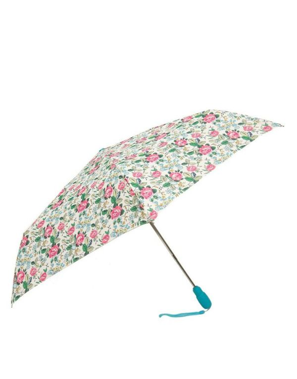 Floral Print Umbrella 3 Fold Manual Open Plain Design for ...
