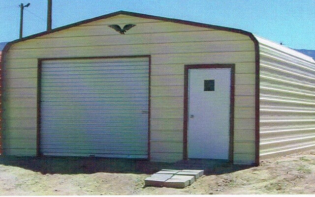 18 X 21 Enclosed Metal Carport Cover Garage INSTALLED View Our EBay STORE EBay