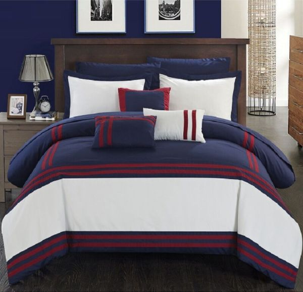 Luxurious Comforter Set Bedding 10Piece King Size Bed in