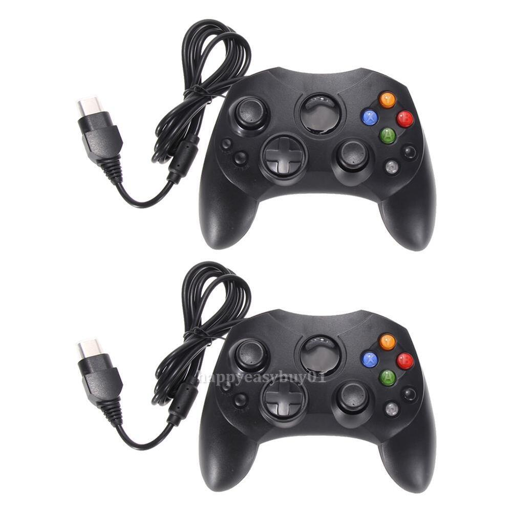 2 X Dual Shock Black Wired Game Pad Controller For
