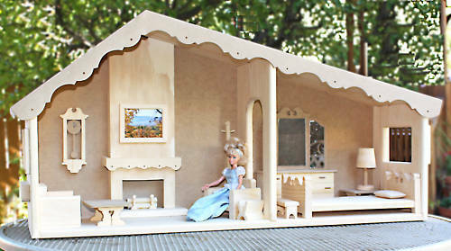 Build A Barbie Doll House And Furniture From Wood Plans EBay