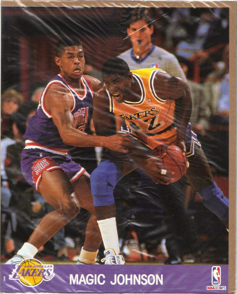 Mint Sealed 1990 NBA Hoops Action 8x10 Photo 32 Magic