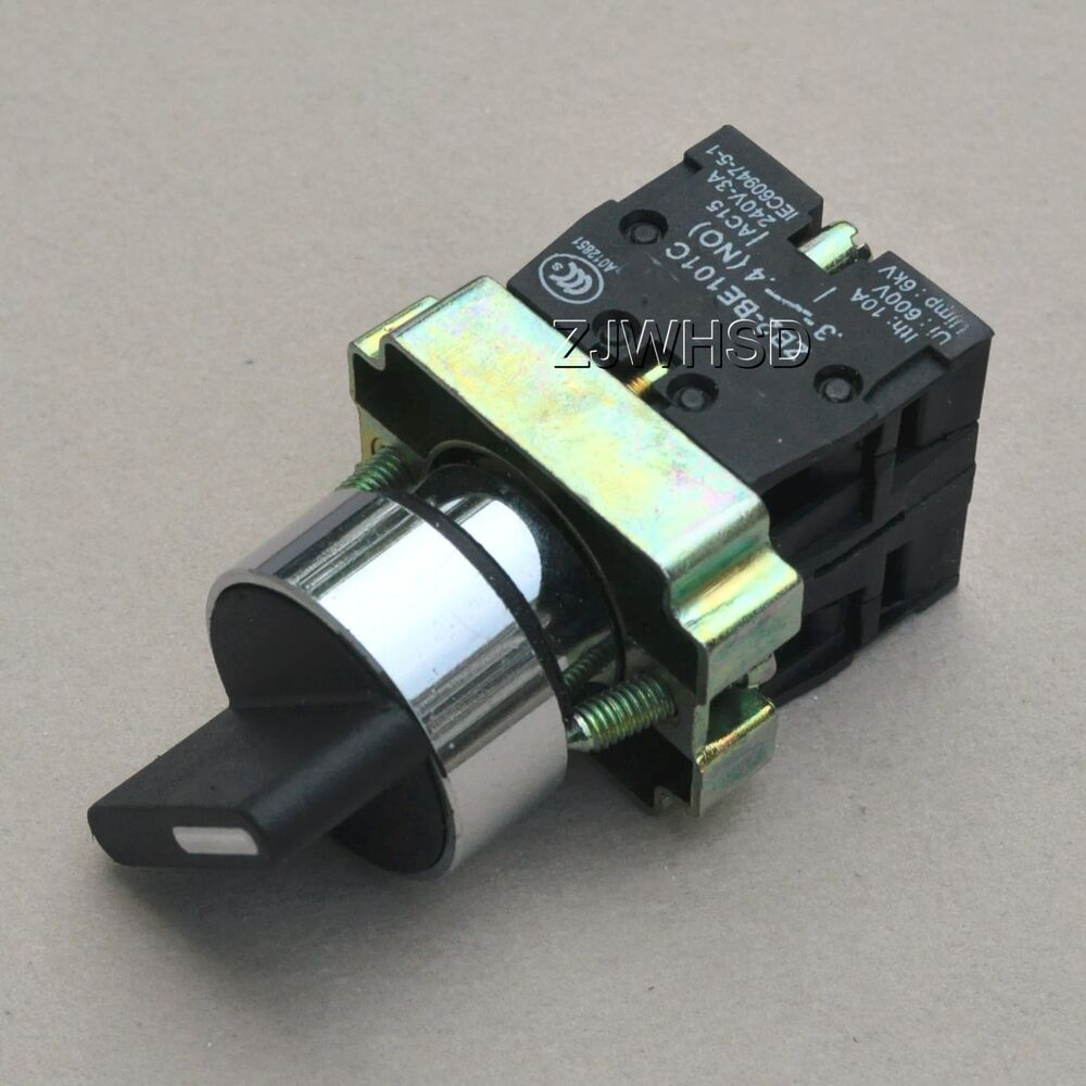 On Off Locking Twist 2 Two Position Selector Switch Nc