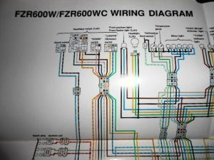 Yamaha OEM Factory Color Wiring Diagram Schematic 1989