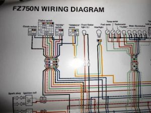 Yamaha OEM Factory Color Wiring Diagram Schematic 1985