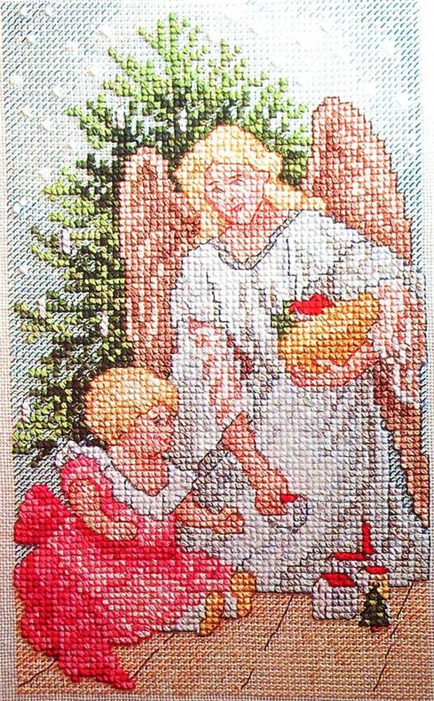 2 Patterns CHRISTMAS GUARDIAN And TRIMMED TREE Rare Cross