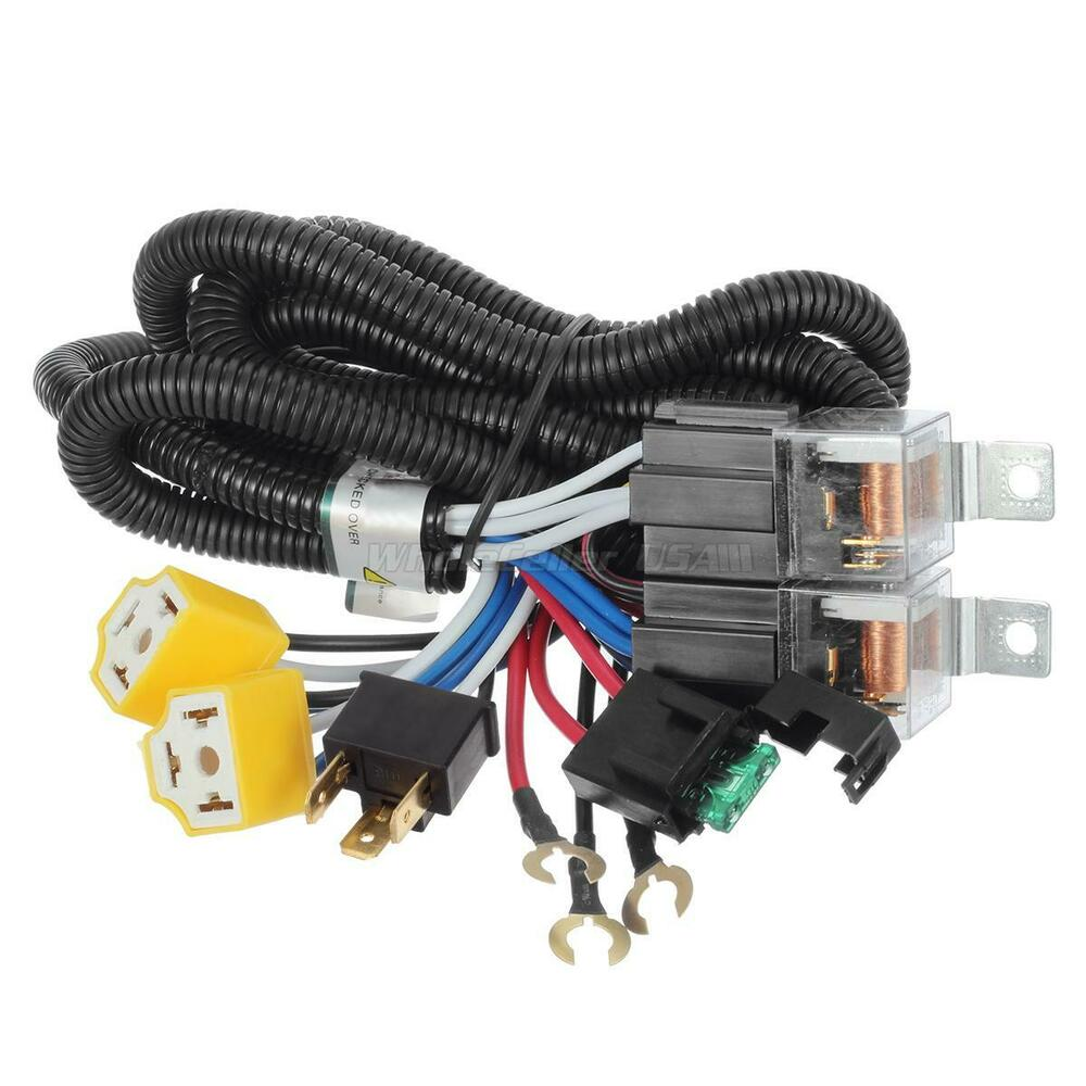 For Headlight H4 Ceramic Socket Relay Harness Wire