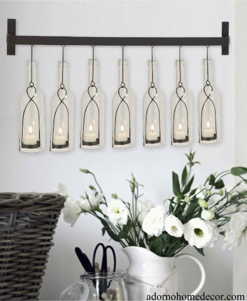 Modern Bottle Wall Sconce Rustic Vintage Cottage Chic ... on Decorative Wall Sconces Candle Holders Centerpieces Ebay id=39392