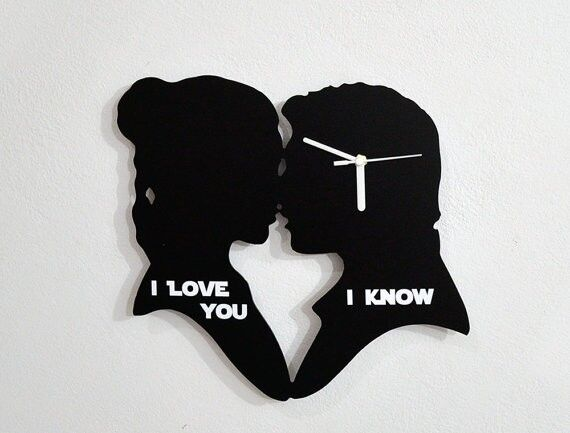 Download I love you, I Know - Silhouette Wall Clock | eBay