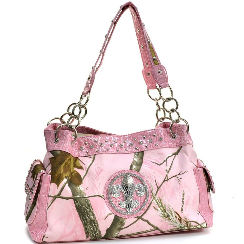 New Realtree Women Handbag Chain Camouflage Faux Leather