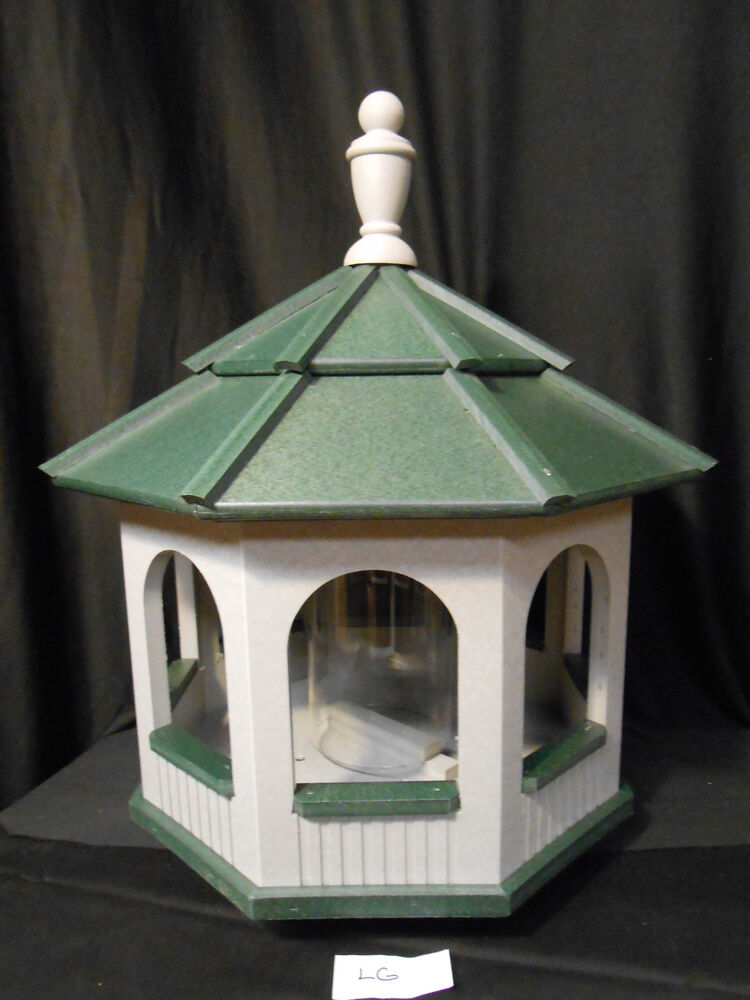 Large Gazebo Vinyl Bird Feeder Amish Homemade Handmade