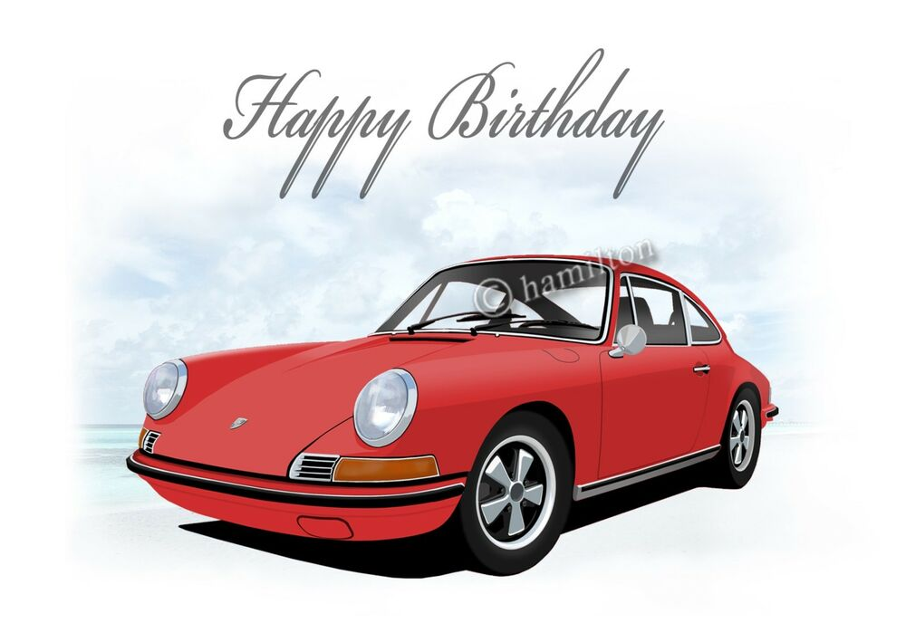 Porsche 911 912 18th 21st 40th 50th 60th 70th PERSONALISED