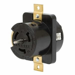 Hubbell CS6369L 50Amp 125250Volt 3Pole 4Wire Twist