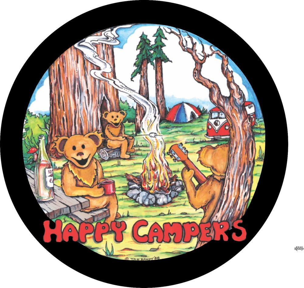 Happy Campers Spare Tire Cover For Jeep RV Camper Amp More