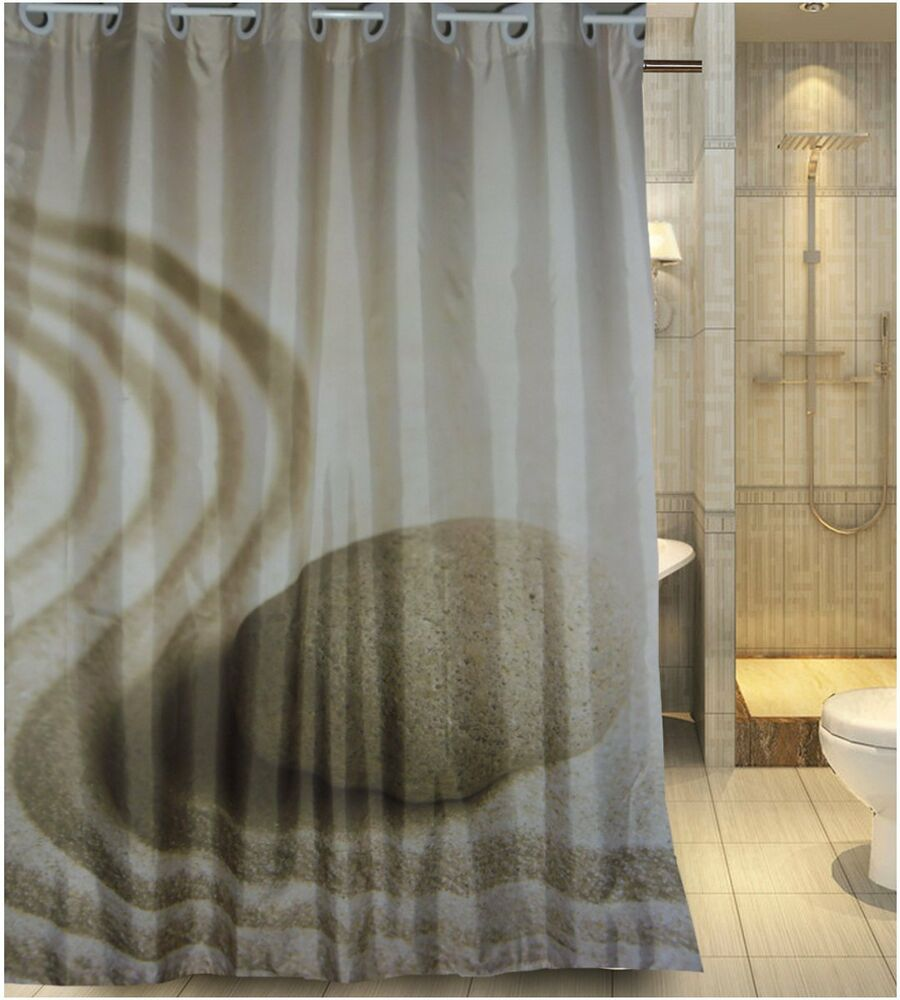 Europe Latest Generation Hookless Design Fabric Shower Curtain New Free Shipping EBay