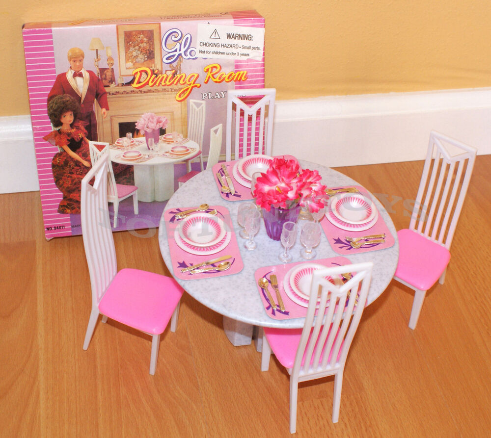 NEW GLORIA DOLL HOUSE FURNITURE 5 Pcs Round DINING TABLE