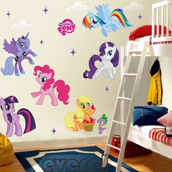 My Little Pony Mural Vinyl Wall Decals Sticker for Kids ...