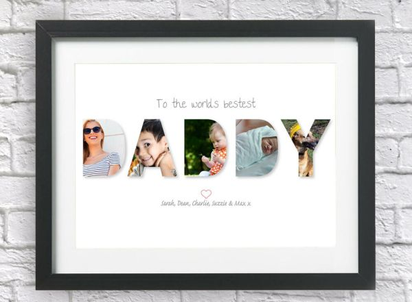 Bespoke Personalised DADDY Collage Print Photos Fathers ...