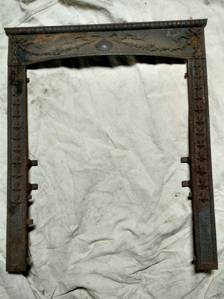 Reclaimed Antique Victorian Cast Iron Fireplace Surround