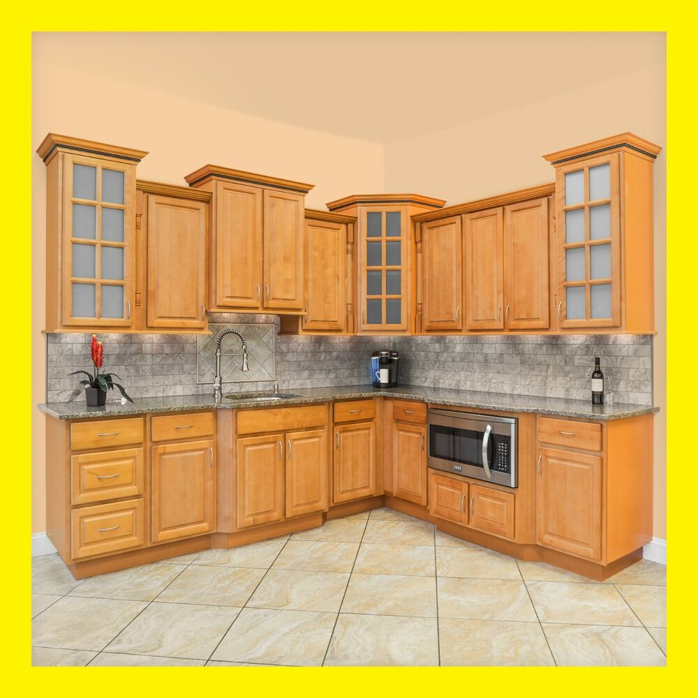 Richmond All Wood Kitchen Cabinets, Honey Stained Maple ... on Maple Cabinets Kitchen  id=40410