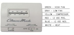RVP 7330G3351 Coleman Mach White Manual Wall Thermostat | eBay