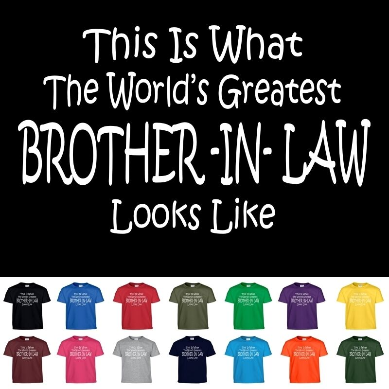 Worlds Greatest BROTHER IN LAW Funny Groomsmen Wedding