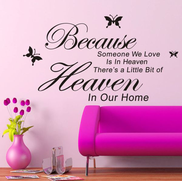 New DIY Removable Art PVC Vinyl Quote Wall Stickers Decal ...
