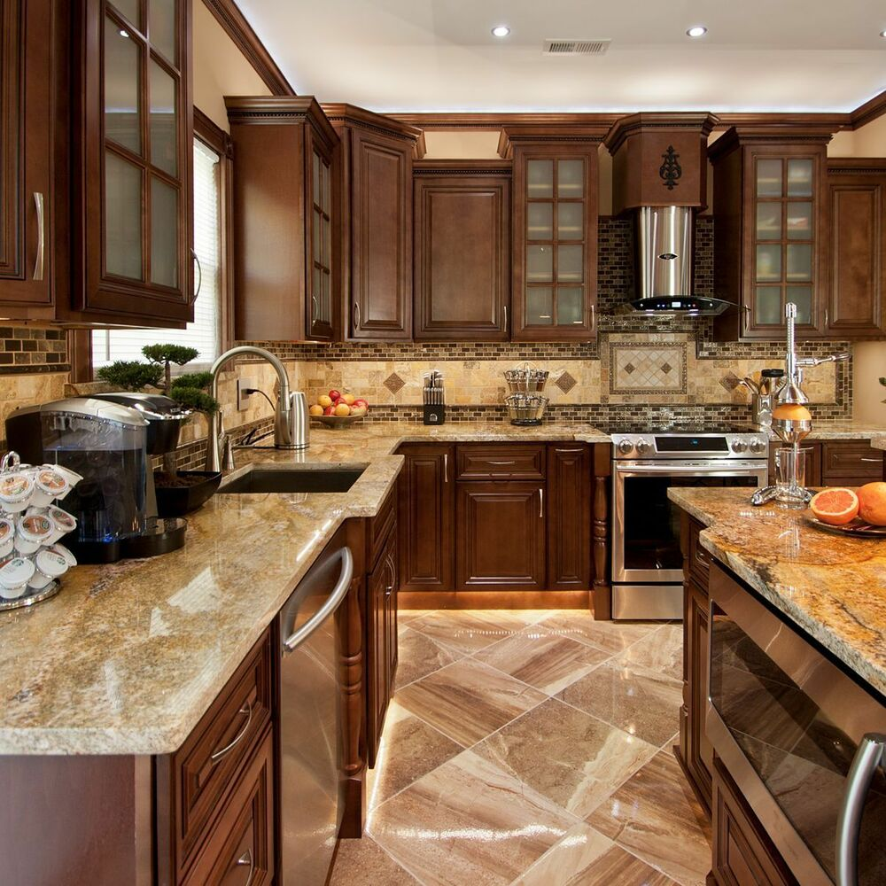 Geneva All Wood Kitchen Cabinets, Chocolate Stained Maple ... on Maple Cabinets Kitchen  id=75217