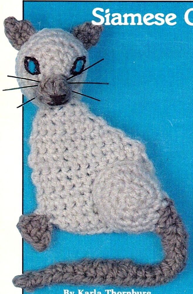 CUTE 8 Siamese Cat FridgieDecorCrochet Pattern