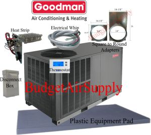 35 Ton 14 seer Goodman HEAT PUMP Package Unit GPH1442H41