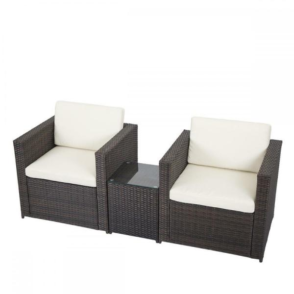 outdoor wicker patio furniture sectional sofa set 3 PCS Outdoor Patio Sofa Set Sectional Furniture PE Wicker