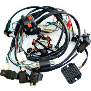 Full Electrics Wiring Harness CDI Coil Solenoid GY6 150cc