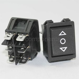 Light Country R5 Momentary 3 Position Rocker Switch Black