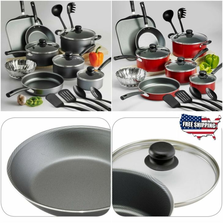Nonstick Cookware Set Teflon Piece Pots Pans Kitchen Cooking