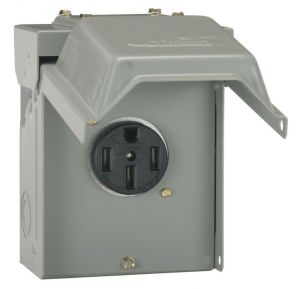 50 Amp Temporary RV Power Outlet Outdoor Receptacle Plug Housing Weather Proof 691197905942 | eBay