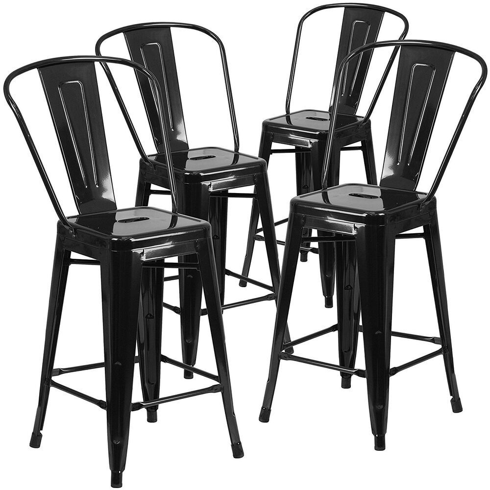 Modern Industrial Bucket Back Barstool 30inch Seat