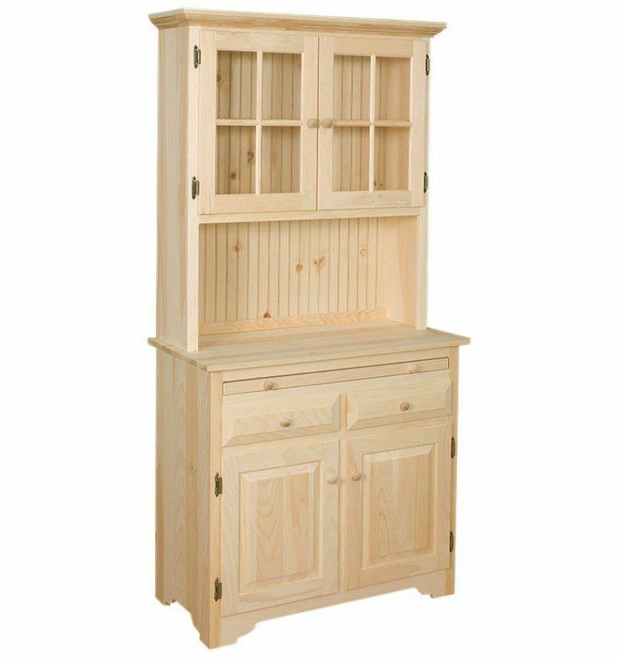 Solid Unfinished Solid Pine HOOSIER China HUTCH Country